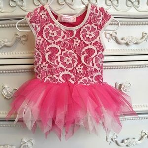 POPATU lace overlay tulle tutu dress 3/6m